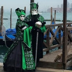 Green and Black female or male costume, made for Venice, masked balls and