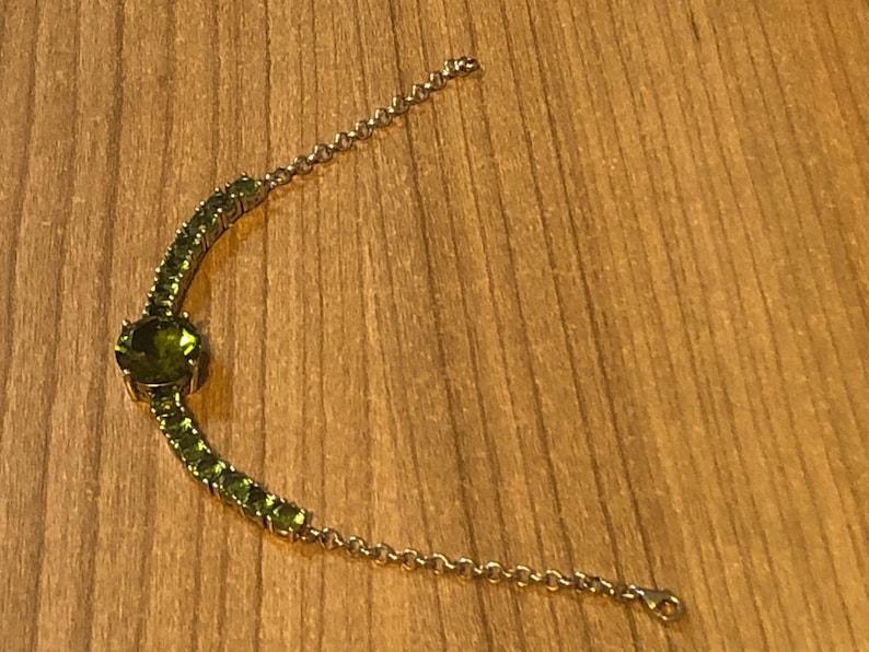 Water Line Wristband Zultanite Bracelet Colour Changing Adjustable Wristband | 925 Silver 18 CM Handmade Silver Bracelet