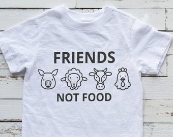 8193e4de Friends Not Food Baby Bodysuit, Toddler, Youth, Adult Shirt -Newborn -  Birthday Gift - Cow - Pig - Chicken - Sheep - Vegan - Vegetarian Farm
