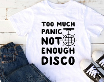 349bba513eab6 Too Much Panic Not Enough Disco Baby Bodysuit