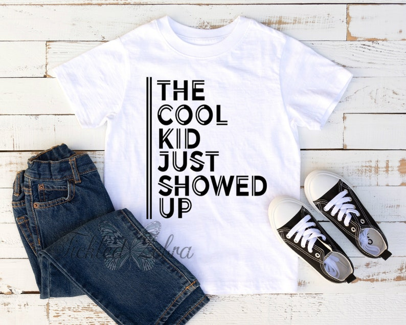 f0368dfe0 The Cool Kid Just Showed Up Baby Bodysuit Toddler Youth | Etsy