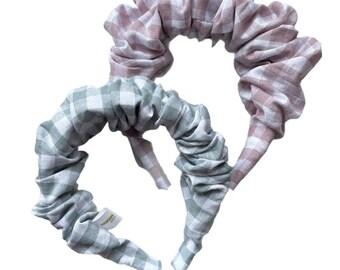 Scrunchay.away gingham frida headband