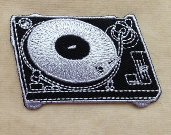 Record Player Iron On Patch
