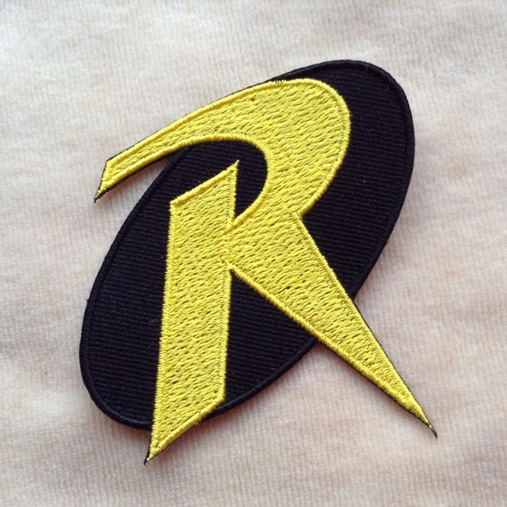 Robin Super Hero Logo Iron On Patch Etsy