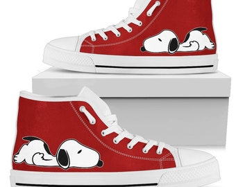 Red Snoopy Sneakers Snoopy Shoes Tennis Shoes 17ad2d53b4d