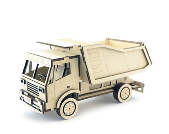 Dump truck  Trailer Truck   Toy truck   Car model   Truck model kit   Wooden truck   Wooden model kit   Truck and Trailer   dump truck birth
