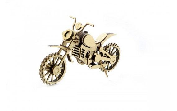 motocross motorrad holz modell bausatz motorrad dirt bike. Black Bedroom Furniture Sets. Home Design Ideas