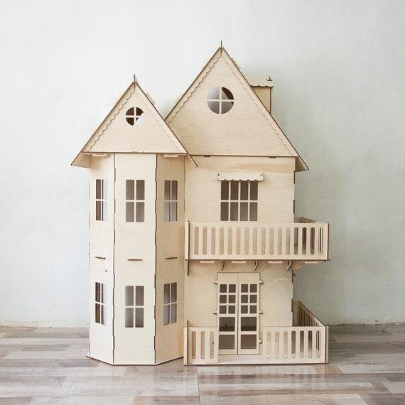 Victorian Dollhouse Dollhouse Wood Dollhouse Dollhouse Kit Etsy