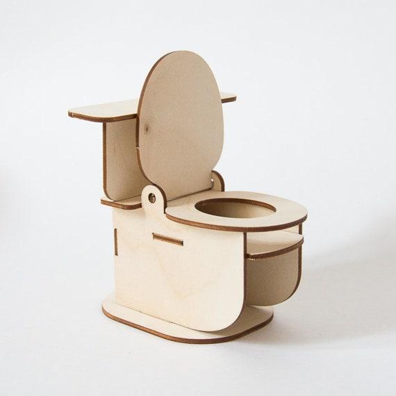 Toilette Möbel für Puppenhaus Badezimmer Puppenhaus | Etsy
