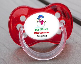 ALL TEATS TUMBLE SIZES /& COLOURS PERSONALISED DUMMY PACIFIER SOOTHER