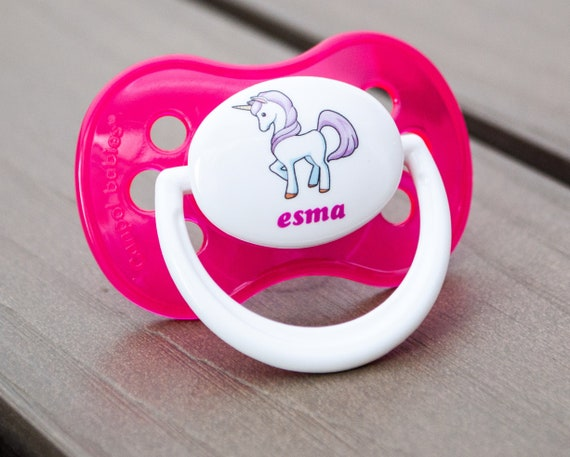 *TWIN PACK*  ALL TEATS RED CROWN PERSONALISED DUMMY PACIFIER SOOTHER