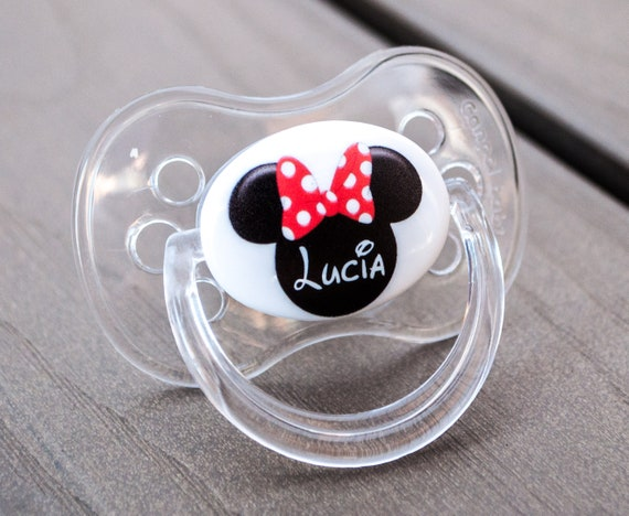 FIRST CHRISTMAS 4 PERSONALISED DUMMY PACIFIER SOOTHER,ALL TEATS,SIZES /& COLOURS