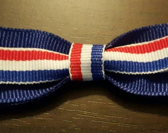 Girls, Toddler, Patriotic, 4th of July, Holiday, Red, White & Blue Hairbow