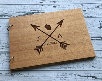 Unique Wedding Guest Book | State Love Guest Book | Wood Guest Book | Wedding Guest Book Alternative | Wedding Guest Book | Engraved for You
