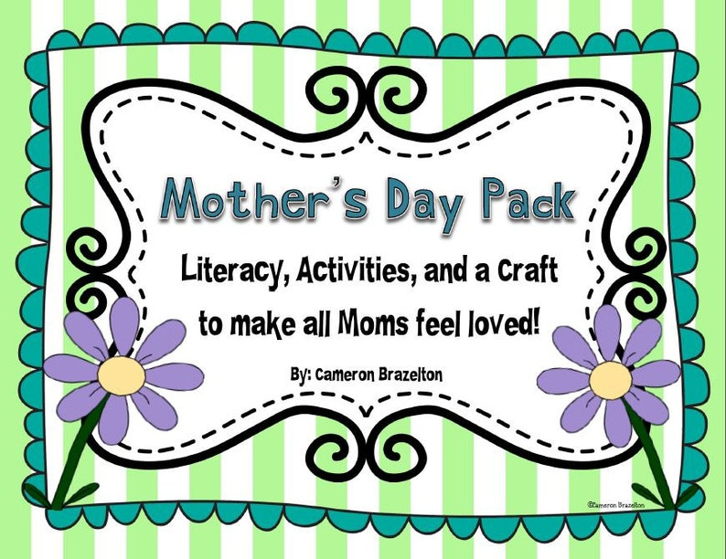 Mother S Day Literacy Activities Craft Etsy
