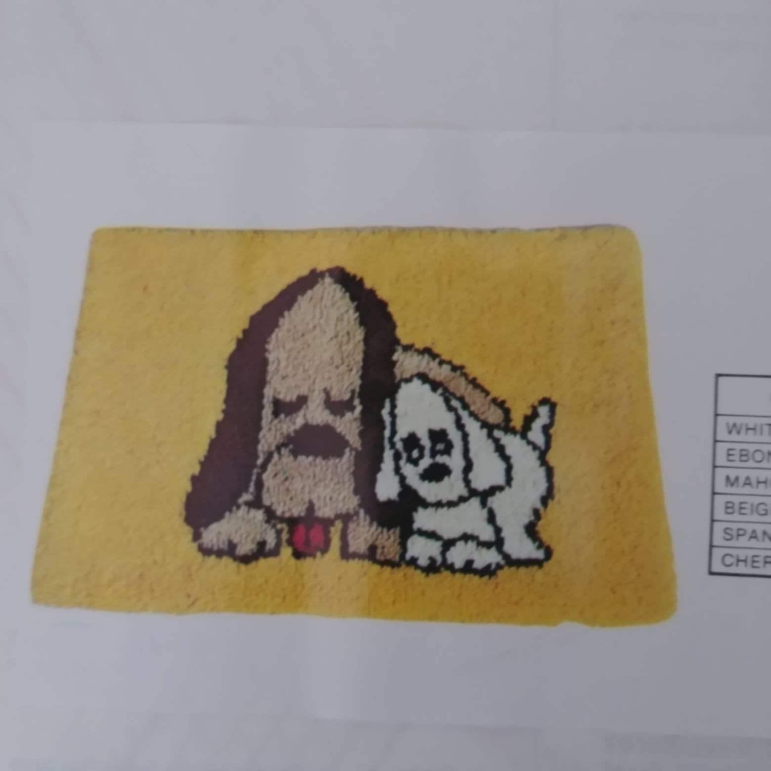 Dog Rug Hooking Canvas 20x27 Inches Locker Hooking Pattern Children S Bath Mat Dog Lovers Best Friend Shag Mat Printed Canvas