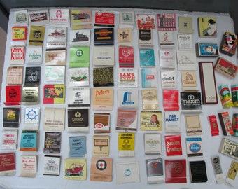 Vintage Lot of 85 Matchbooks and Matchboxes/Assortment of Matchbooks and Matchboxes from the 1980s