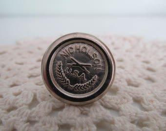 Antique Handsaw Medallion/Vintage Handsaw Medallion/Nicholson USA Medallion