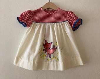 8727f059 1970s Vintage Baby Girls Dress, Vintage Baby Dress, Vintage Girls Dress  Size 12 Months