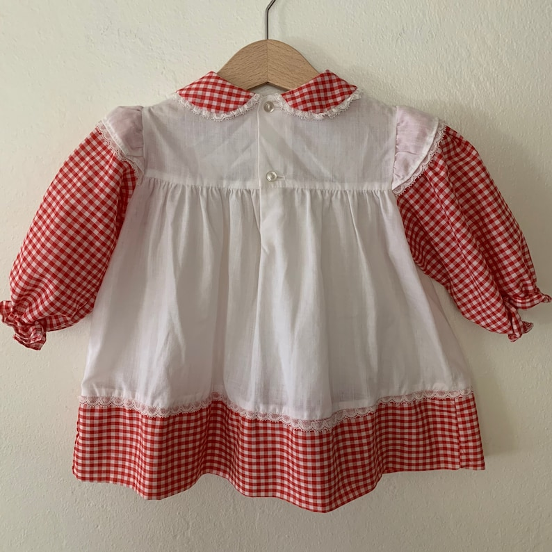 Vintage Baby Christmas Dress Size 12 Months Vintage Baby Girls Holiday Dress Vintage Polly Flinders Dress