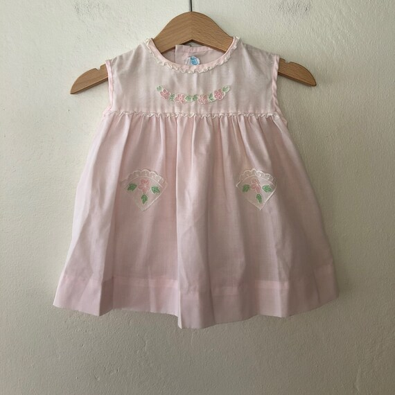 f9a545c37 Vintage Baby Girls Easter Dress 1960s Baby Girl Dress