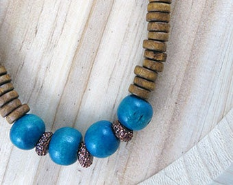 Stacked Up Necklace // Boho Necklace // Handmade Jewelry // Beaded Statement Necklace // Gifts for Her