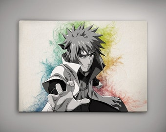 Naruto Anime Poster Print Wall Watercolor Art Shippuuden Anime Poster Gift n6