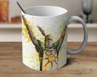 Praise The Sun Coffee Mug, Dark Watercolor Mug, Coffee Mug, Color Changing Mug, Gamer Coffee mug, Gamer Gift