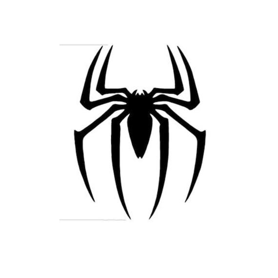 Spiderman Logo Window Sticker Vinyl Decal Spider Man Small Etsy
