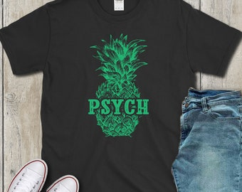 035cc236074 Psych pineapple t-shirt hawaiian ananas shirt gift tropical fruit tshirt  summer pina tee shirt beach party watercolor personalized artwork