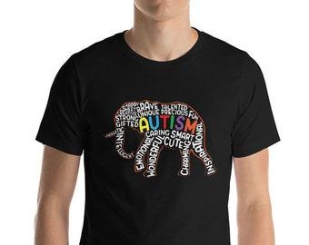 7db10c68a Autism Awareness Elephant Short-Sleeve Unisex T-Shirt Gift Autism Shirt  Women Men