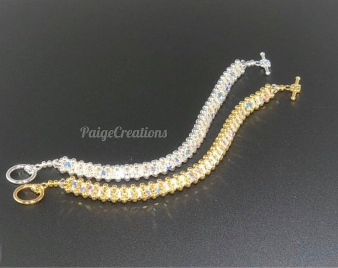 Swarovski Crystal Bracelet, Swarovski Bracelet, crystal bracelet, silver bracelet, beaded bracelet, diamond bracelet, gold bracelet
