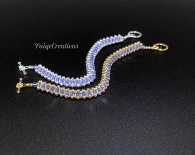 Swarovski Crystal Bracelet, Swarovski Bracelet, Crystal Bracelet, Silver bracelet, beaded bracelet, gold bracelet, Lavender Bracelet