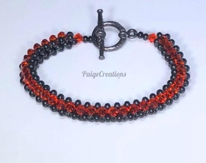 Swarovski Crystal Bracelet, Swarovski Bracelet, crystal bracelet, Hyacinth Bracelet, black beaded bracelet, beaded bracelet, black bracelet
