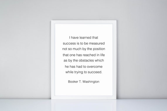 I Have Learned That Success Is To Be Measured Book T Etsy