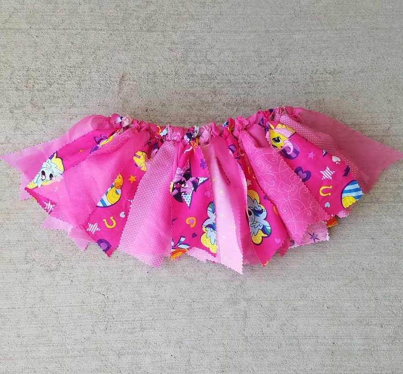 595f5caaf My Little Pony Fabric Scrap Tutu MLP friendship is magic | Etsy