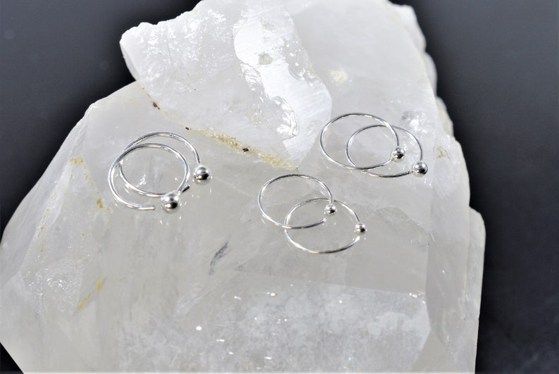 Septum Hoop Septum ring Ball septum ring Septum Jewelry Silver thin septum ring Cartilage Earring Gypsy septum ring 8mm Nose ring