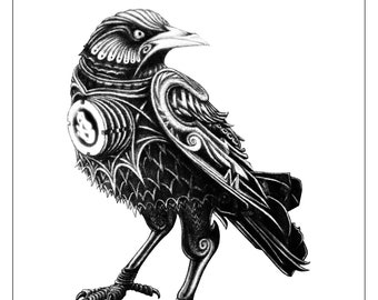 The Medieval Crow from The Future (XL Semi-Gloss Print - 3' x 4')