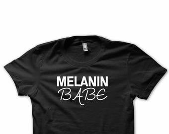 992bd94d Melanin Babe, Funny Women Tee , Melanin Tee, Statement Humor, That Melanin  Though, Humor Gift, Holiday Gift, Women Clothes
