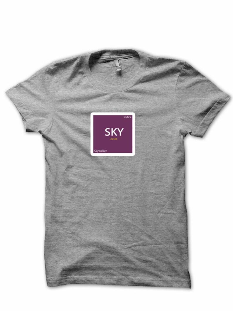 3ef9297d SKYWALKER Indica Graphic Design Marijuana Tee Hemp Tshirt | Etsy