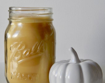 Pumpkin Spice Latte Scented Pure Beeswax Candle