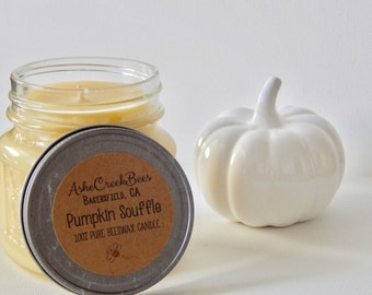 Pumpkin Souffle Scented Pure Beeswax Candle