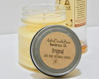 8oz Original Pure Beeswax Candle