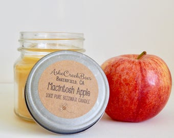 8oz Scented Pure Beeswax Candle