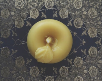 The Golden Apple, Beeswax Candles, Pure Beeswax, Natural Candles, Handmade Candles, Beeswax, Honey Candles