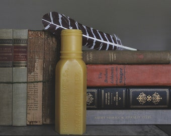 Antique Bottle Beeswax Candle - Price Booker MFG Co. San Antonio, TX., Beeswax Candles, Natural Candles, Handmade Candles, Beeswax