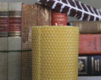 Rolled Beeswax Candle, Beeswax Candles, Natural Candles, Handmade Candles, Beeswax, Honey Candles, Vintage Candle