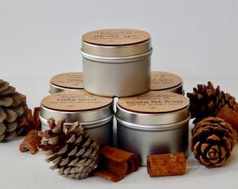 Set of Five 2oz Beeswax Candle Gift Set/ Sampler Set