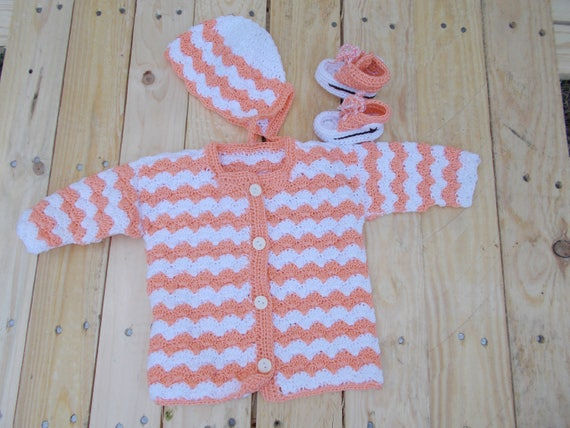 Baby Sets Crochet Baby Sweater Set Baby Gifts Christmas Etsy