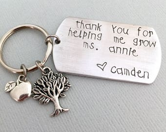 Day Care Teacher Keychain, Kindergarten Teacher Gift, End of School Year Gift, Thank You Teacher Keychain, Nursery Gift, Lowercase ONLY